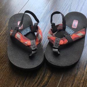 Toddler Teva flip flops